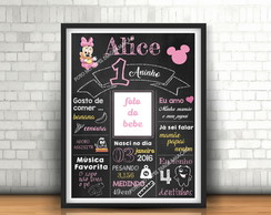 Chalkboard Digital Minnie Baby
