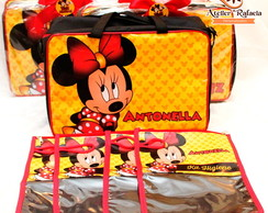 Mala com Kit Organizador Minnie