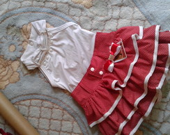 conjunto shorts e body