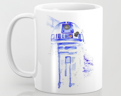 Caneca R2-D2 - Droid Watercolor