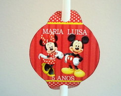 Tags para canudo Mickey e Minnie