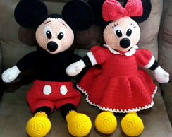 Amigurumi de Crochê Mickey ou Minnie