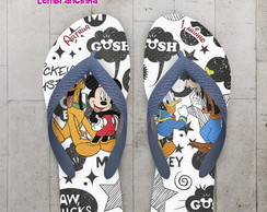 Chinelo Personalizado Turma do Mickey