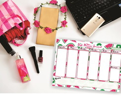Desk Planner Semanal-Fruits (Bloco)