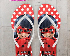 Chinelo Infantil Miraculous Polka Dots