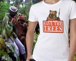 Camiseta Feminina Star Wars - Eco Ewoks