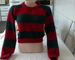 Sueter Fantasia Cropped Freddy Krugger