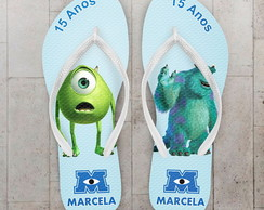 Chinelo Infantil Estampa Monstros SA