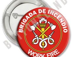 BÓTON/BUTTON/ BRIGADA DE INCÊNDIO - 45mm