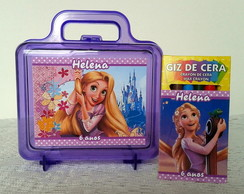 Maletinha Rapunzel com Kit Colorir