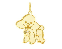 Pingente Poodle - Ouro 18K