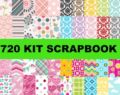 700 Kits Papéis Scrapbook Digital