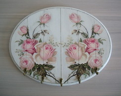 Porta chaves floral - Roses
