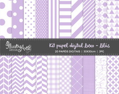 Papel Digital Luxo Lilas
