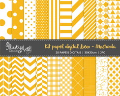 Papel Digital Luxo Mostarda