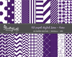 Papel Digital Luxo Roxo