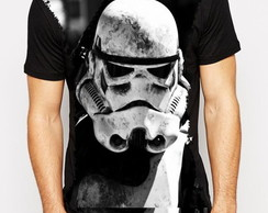 Camiseta sublimada preta Star Wars Stormtrooper