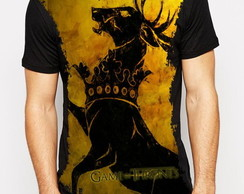Camiseta sublimada preta Game of Thrones Casa Baratheon