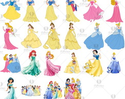 Kit 22 Elem. Digitais-Princesas Disney