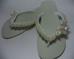 Chinelo Havaiana Decorado Branco