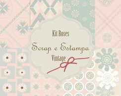 Kit papel digital -roses vintage