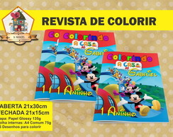 Revista Para Colorir A CASA DO MICKEY
