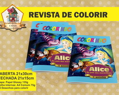 Revista Para Colorir Alice