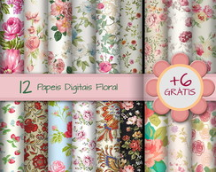 [FLORAL-01] Papel Digital Floral - Kit Promocional