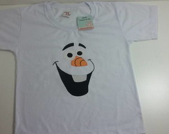 Camiseta Olaf em patch aplique