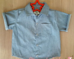 Camisa Jeans Baby e Kids