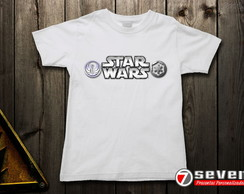 Camiseta Star Wars - Branca