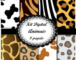Kit scrapbook digital Animais