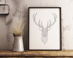 Pôster Decorativo Deer