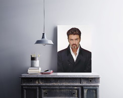 "Placa decorativa ""George Michael"""