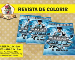 Revista Para Colorir Max Steel