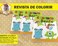 Revista Para Colorir MONSTRINHOS