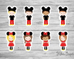 Aplique Fantasia Mickey e Minnie 5 cm