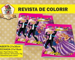 Revista Para Colorir BARBIE MODA E MAGIA