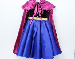 Vestido Infantil Ana Frozen Elo7