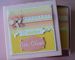 Album totalmente decorado scrapbooking fotos Mesversarios