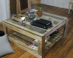 Mesa de centro ou coffee table de pallet