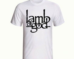 Camisa Camiseta Lamb Of God Banda Rock