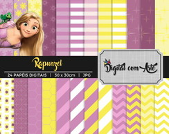 Kit Papel Digital Rapunzel