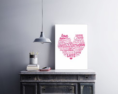 "Placa decorativa ""Love"""