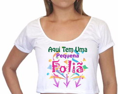 Baby Look Cropped Carnaval 2017