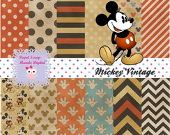 KIT PAPEL DIGITAL MICKEY VINTAGE 23-7