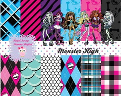 KIT PAPEL DIGITAL MONSTER HIGH 23-11