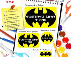 Etiqueta Escolar - Batman