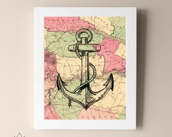 Quadro Pronto Anchor Vintage QP029