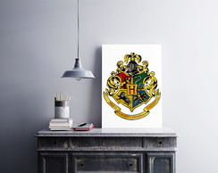Placa decorativa MDF Harry Potter Hogwarts